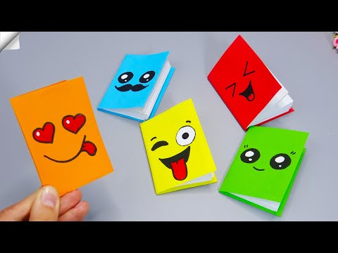 DIY notebook | DIY MINI NOTEBOOKS from ONE SHEET OF PAPER - Paper craft for school