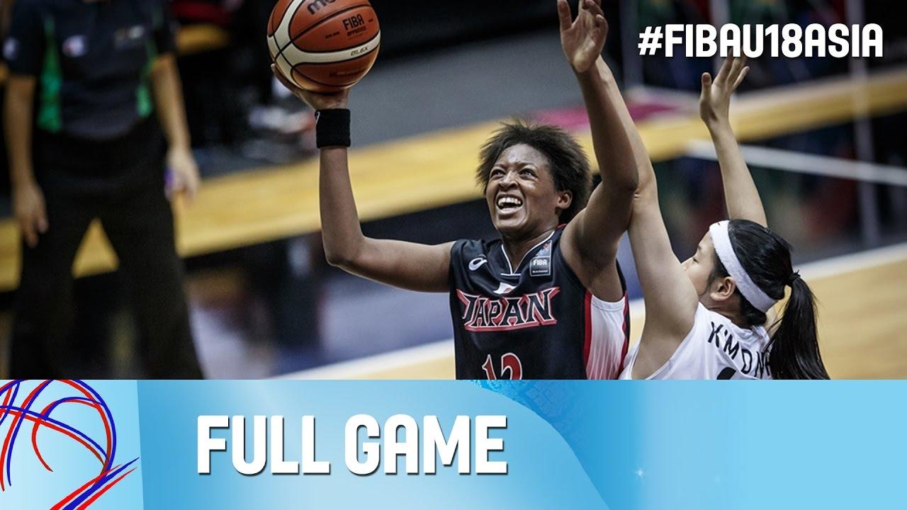 Korea v Japan - Live - Semi Final - FIBA Asia U18 Championship for Women 2016