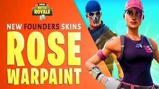 How to Unlock NEW Founders Skins in Fortnite (Rose Team Leader + Warpaint Skins / Update 5.1)