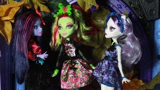 Monster High Gloom and Bloom Party Stop Motion