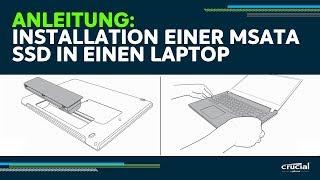 Wie Sie eine mSATA SSD in einem Laptop oder Ultrabook installieren