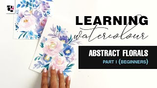Learn how to paİnt abstract watercolour Part 1 - For beginners