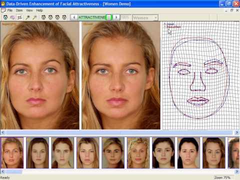 Data-Driven Enhancement of Facial Attractiveness (SIGGRAPH 2008)
