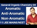 Organic Chemistry || GOC 06 : Aromatic , Anti Aromatic and Non-Aromatic Compounds JEE MAINS/NEET