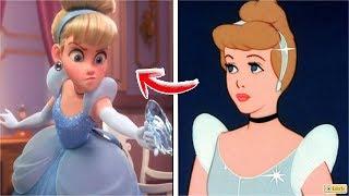 13 Princesas de Disney en Ralph el Demoledor 2 VS Peliculas Originales