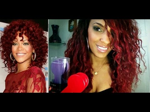 rihanna red hair without bleaching hair chalk tutorial