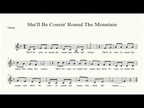 She'll Be Coming Round The Mountain Voice Sheet Music