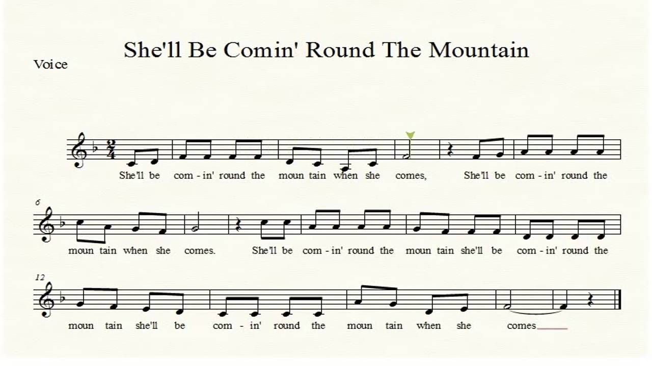An analysis of the song shell be coming round the mountain