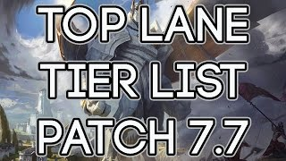Top Lane Tier List Patch 7.7 | Best Top Laners To Carry Solo Queue Patch 7.7