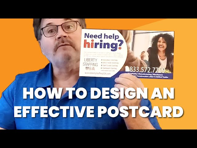 How to Design An EFFECTIVE Postcard | With Examples Of Postcards That Get Results
