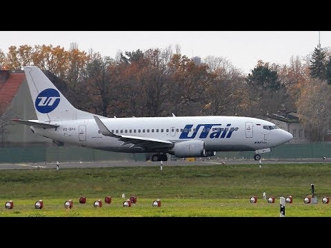 UTair Boeing 737-535 VQ-BPO Takeoff At Berlin Tegel Airport