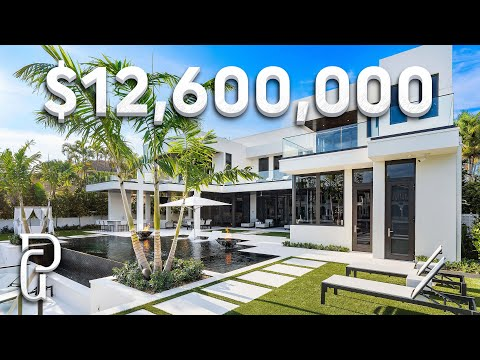 Inside A $12,600,000 Modern Mansion In Southern Florida! | Propertygrams Mansion Tour