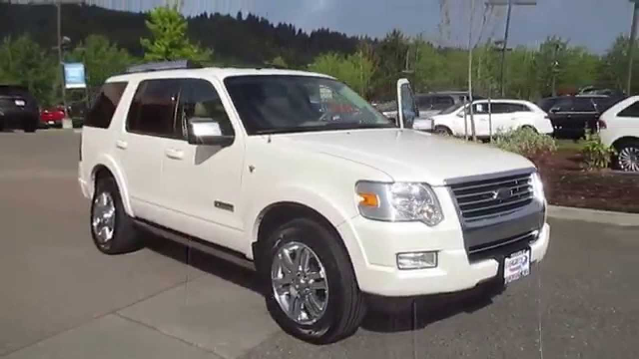 2008 ford explorer white sand met stock 15 1674a walk around