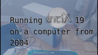 antiX Linux running on an old (15+ years) desktop PC in 2021
