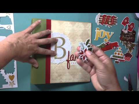 Scrapbooking Process Video: Christmas Family Recipe Album Co