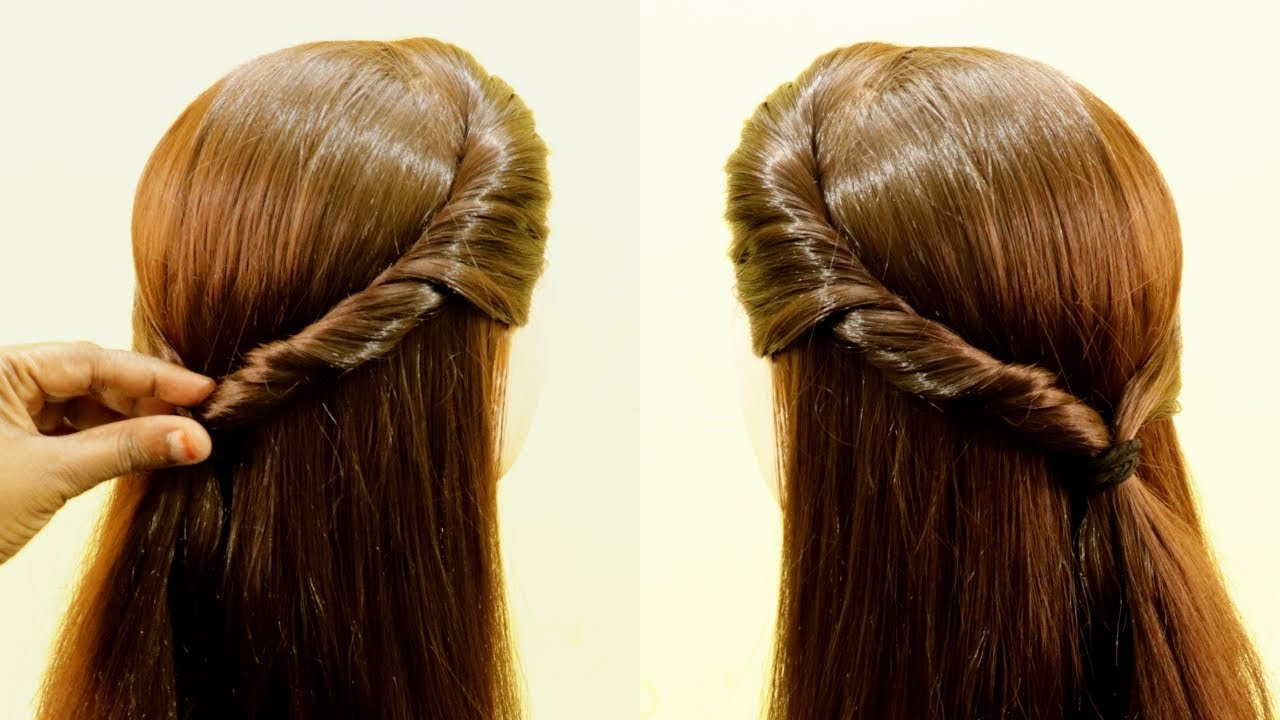 easy daily hairstyle for college/school girls | simple