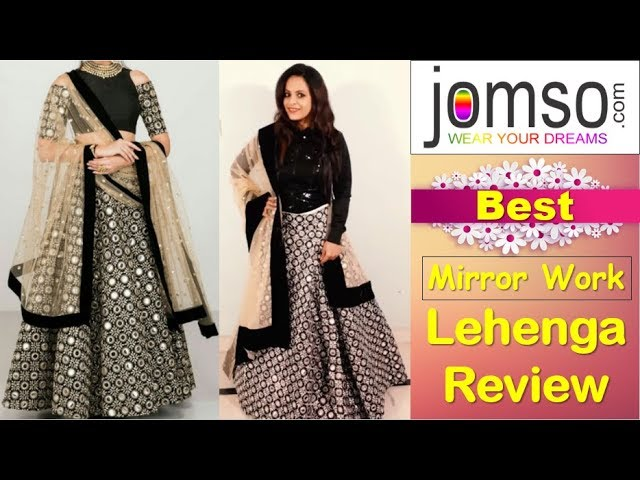 6915e81670 New Jomso Mirror Lehenga Review,Unboxing,Try On| Lehenga Haul |Jomso  Shopping Review| ideas with aru