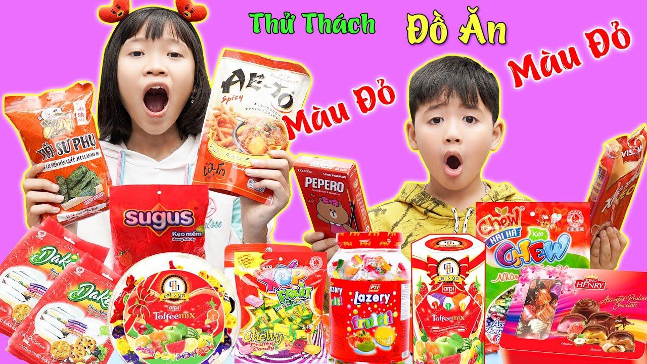 Đồ Ăn Màu Đỏ Cho Phù Thủy Hắc Ám ♥ Minh Khoa TV