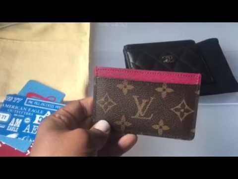 5b81d1a33edf Louis Vuitton vs. Chanel card holder - YouTube