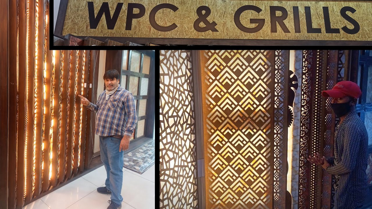 "Exterior & Interior Jali -WPC & GRILLS Design Ideas 2020 By -""Furniture Rayat"""