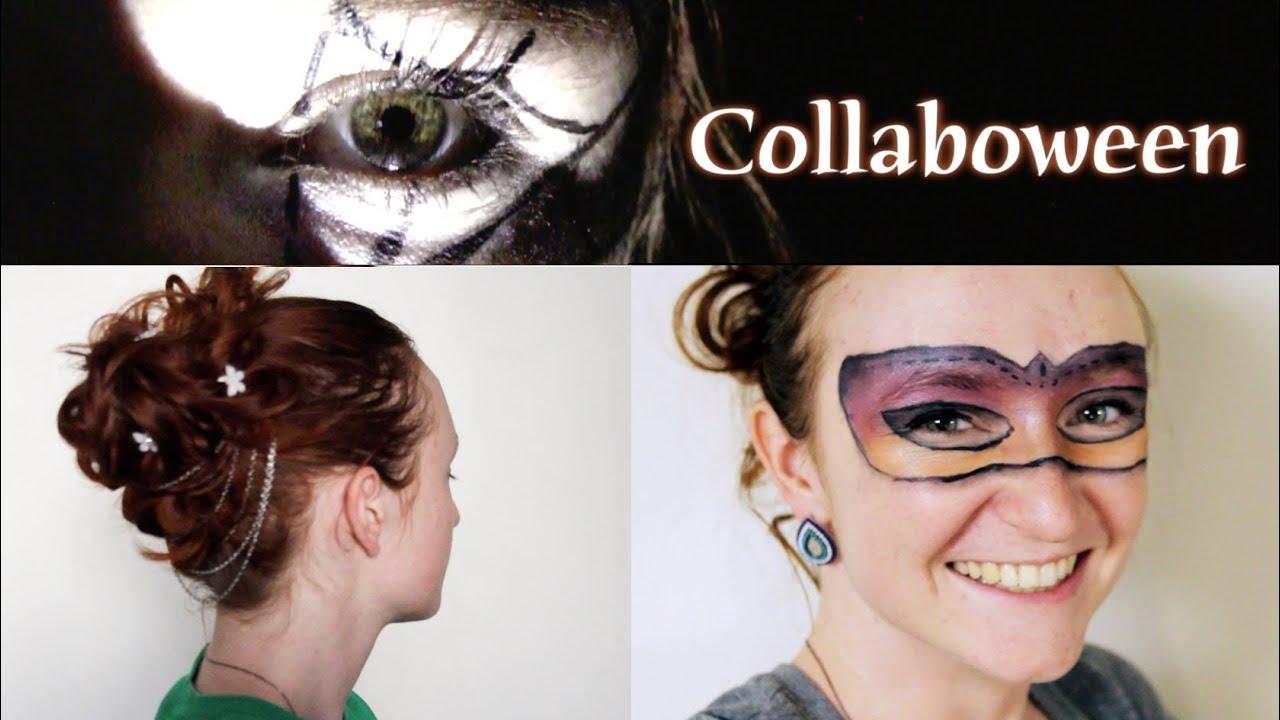 Halloween Costume Idea Masquerade Ball Hair And Makeup Mask YouTube