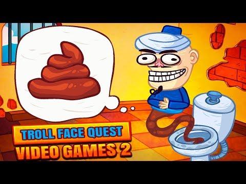 ТУАЛЕТНЫЙ ДЖИН! Троллим СОВРЕМЕННЫЕ ИГРЫ в Веселой Игре Troll Face Quest Video Games 2