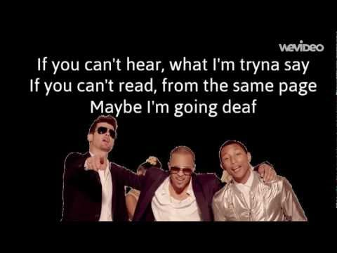 Robin Thicke feat TI, Pharrell  Blurred Lines Lyrics
