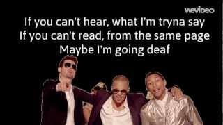 Robin Thicke feat. T.I, Pharrell - Blurred Lines (Lyrics Video)