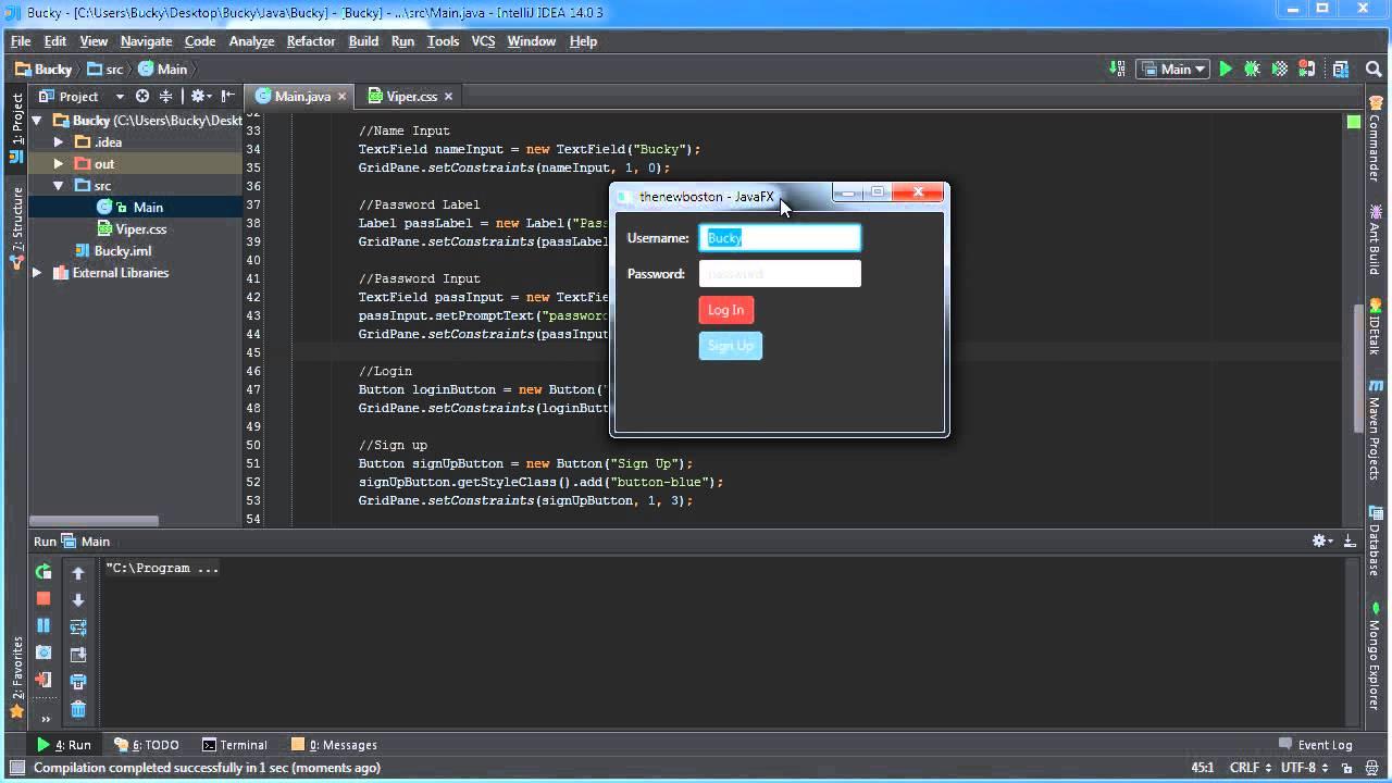JavaFX Java GUI Tutorial - 27 - CSS Custom Style Classes and Selectors