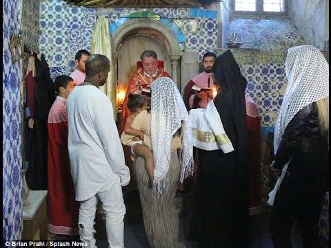Kim Kardashian and Kanye Daughter West were baptized in Jerusalem By Review ++