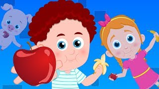 Apples And Bananas | Schoolies Cartoons For Children | Nursery Rhymes By Kids Channel