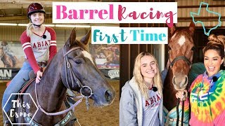 Learning to BARREL RACE for the FIRST TIME with FALLON TAYLOR | This Esme