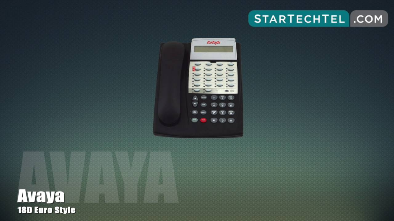 How To Make A Conference Call On The Avaya 18D Euro Style Phone