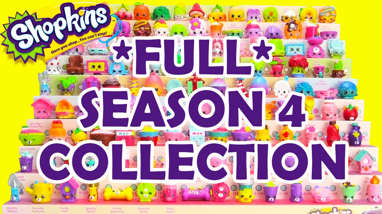 Shopkins Season 4 Complete Collection By Toy Genie Surprises