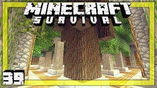 🍃 Minecraft Survival # 39 | House of Leaves - Basic Manual Tree Farm | Luna SSP