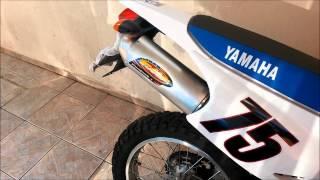 Yamaha XTZ 250 Lander com escapamento FMF