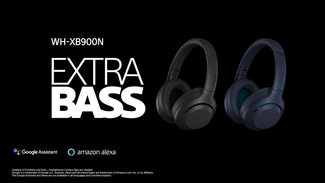 Sony EXTRA BASS™ Wireless Noise Cancelling Headphones WH-XB900N Official  Video