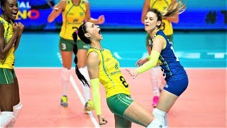 50 touches | LONG RALLY Brazil vs China | Amazing Saves in Volleyball