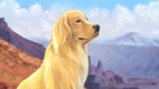 Chester  Golden Retriever On Mountain Top, Speed Painting By Dave Larks