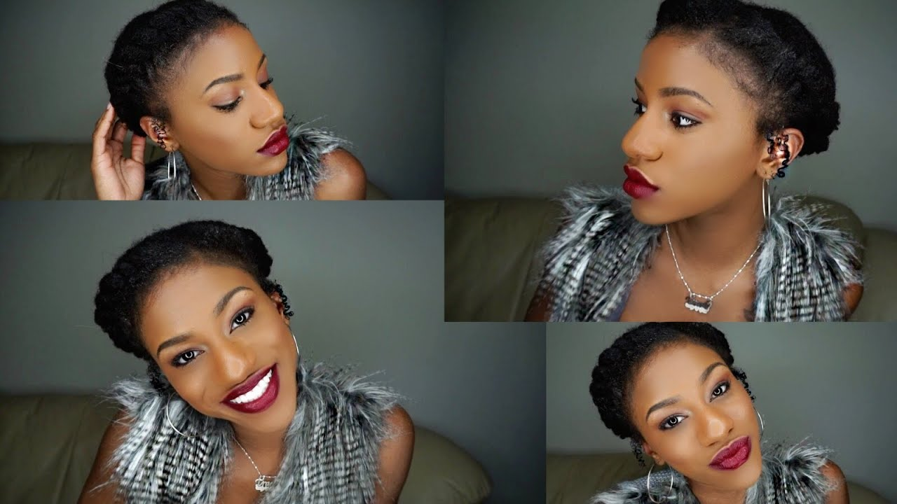 Protective Hair Styles For Short 4c Hair: Halo Crown Protective Style On Short Natural Hair (Awkward
