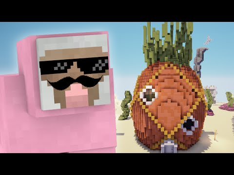 PINK SHEEP MEETS SPONGEBOB SQUAREPANTS!! | Minecraft