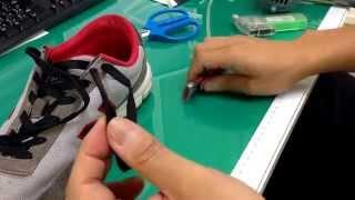 靴紐に熱収縮チューブをつけました。