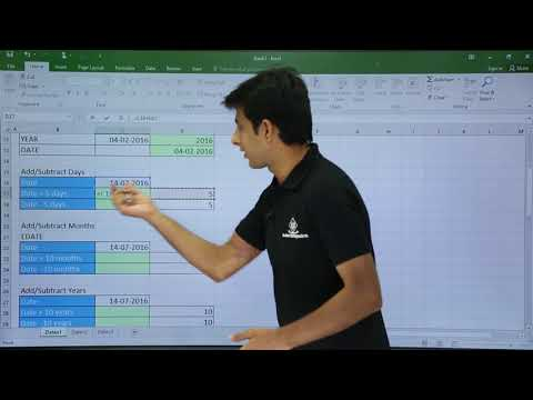 MS Excel - Date Functions Part 1
