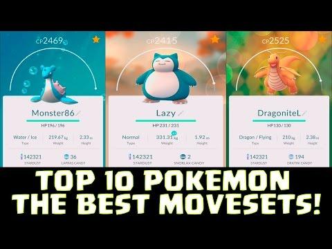 TOP 10 POKEMON & THE BEST MOVESETS ( Attack )! | Pokemon GO | NEW POKEMON EVOLUTION