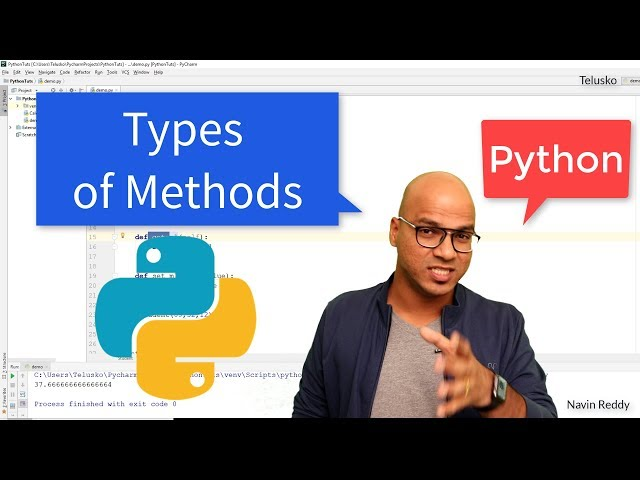 #53 Python Tutorial for Beginners | Types of Methods