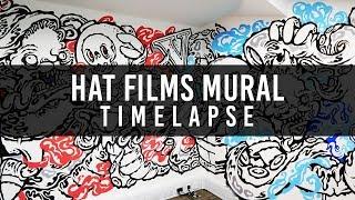 Hat Films Graffiti Mural Art Timelapse by Bill Giles