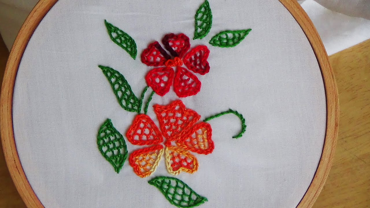Hand embroidery blanket stitch filling youtube