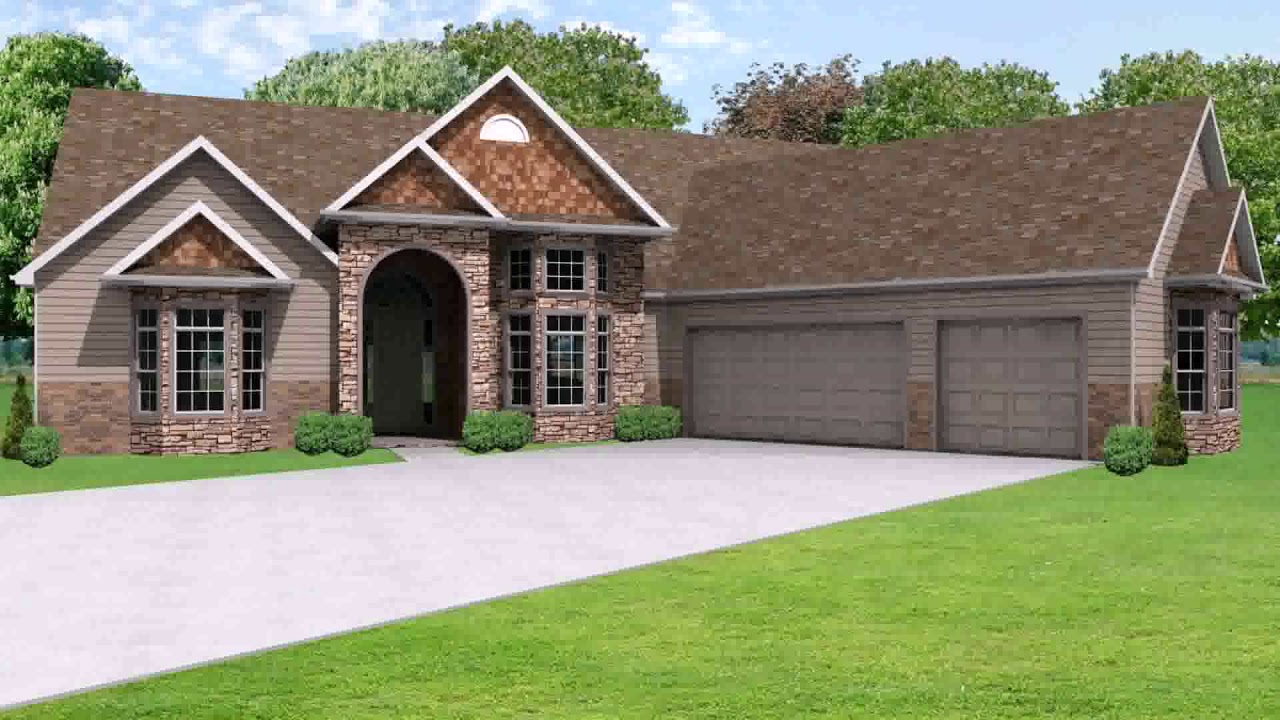 Ranch House Plans With Offset Garage YouTube – House Plans With Offset Garage