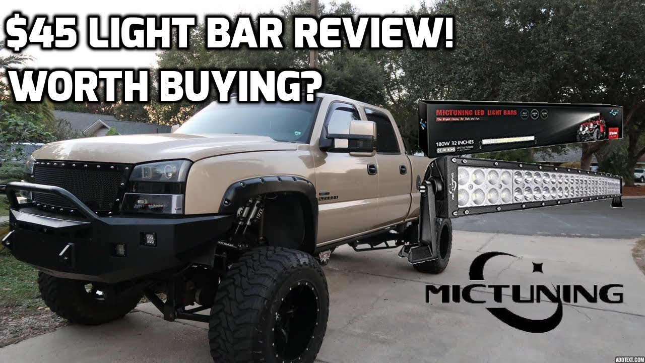 Cheap amazon light bar on the duramax is it worth it youtube cheap amazon light bar on the duramax is it worth it aloadofball Gallery