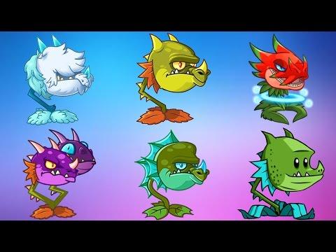 All Dragon Plants Power-Up! vs Modern Day Gargantuar in Plants vs Zombies 2